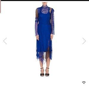 Phillip lim blue georgette silk lining